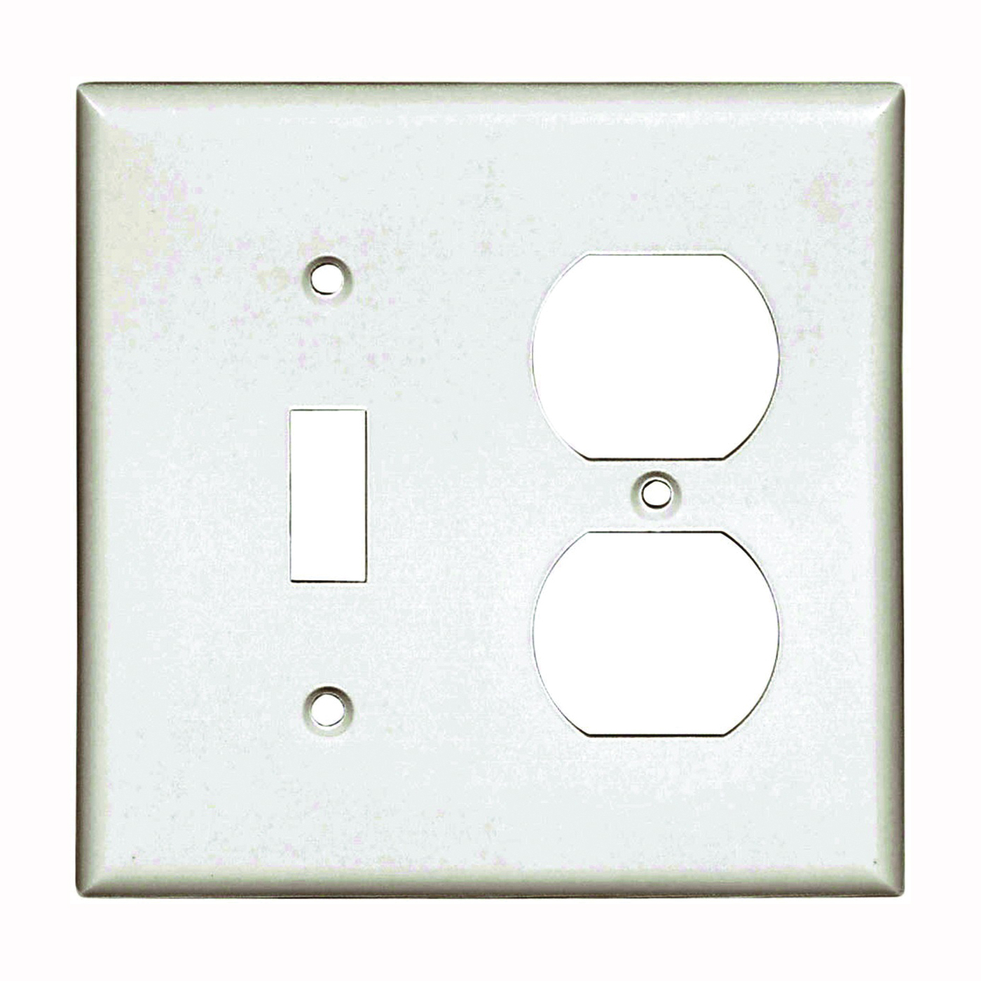 Picture of Eaton Wiring Devices 2138W-BOX Wallplate, 4-1/2 in L, 4-9/16 in W, 2-Gang, Thermoset, White, High-Gloss
