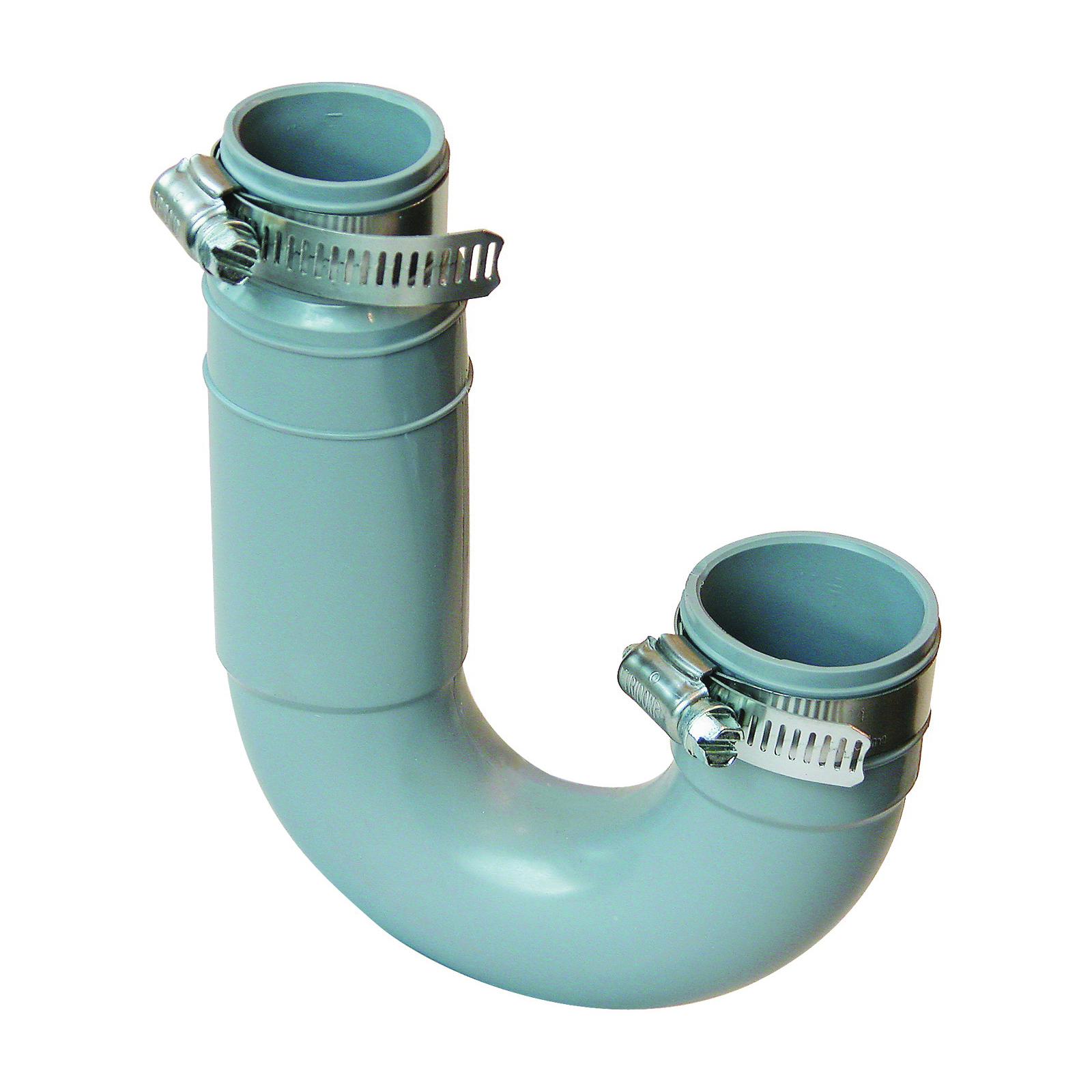 Picture of FERNCO PFT-150 Flexible Qwik Trap, 1-1/4 x 1-1/2 in, PVC, Black, 4.3 psi Pressure