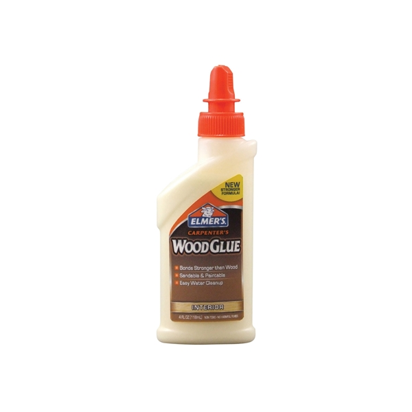Picture of Elmers Carpenter's E7000 Wood Glue, Yellow, 4 oz Package, Bottle