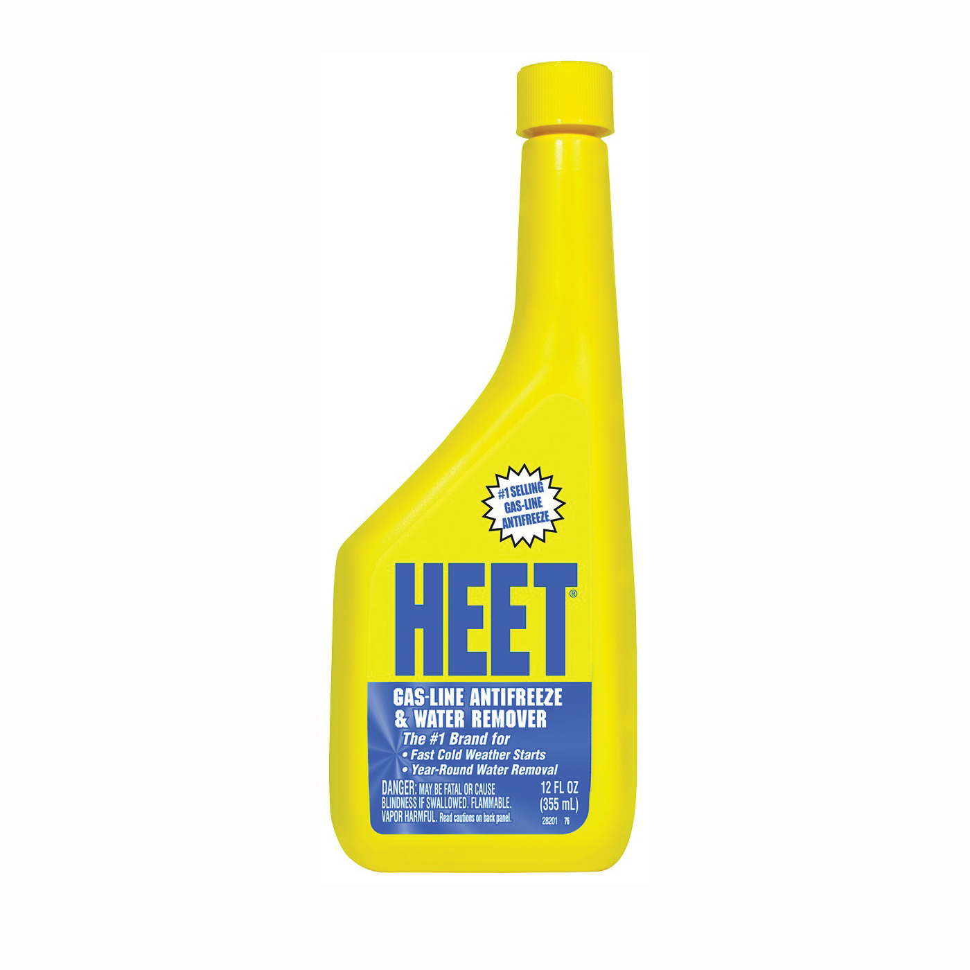 Picture of Heet 28201 Gas Line Antifreeze and Water Remover Pale Yellow, 12 oz Package, Bottle
