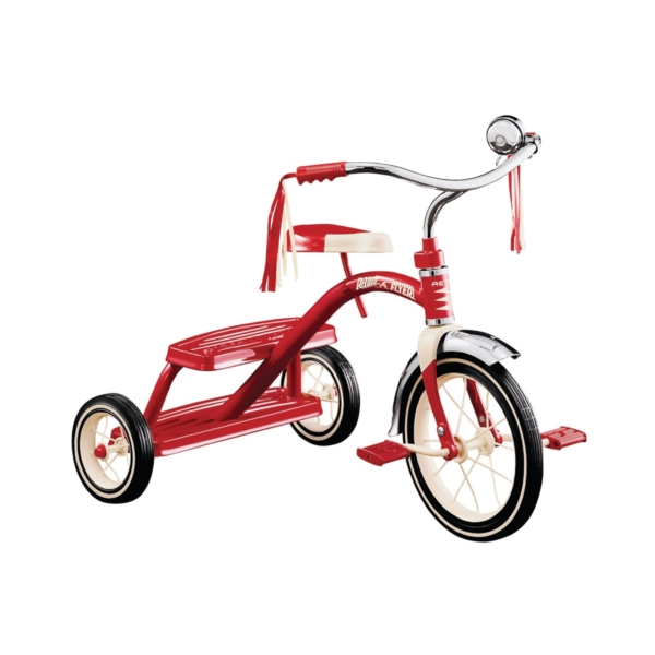Picture of RADIO FLYER 33 Dual Deck Tricycle, 2-1/2 to 5 years, Steel Frame, 12 x 1-1/4 in Front Wheel, 7 x 1-1/2 in Rear Wheel