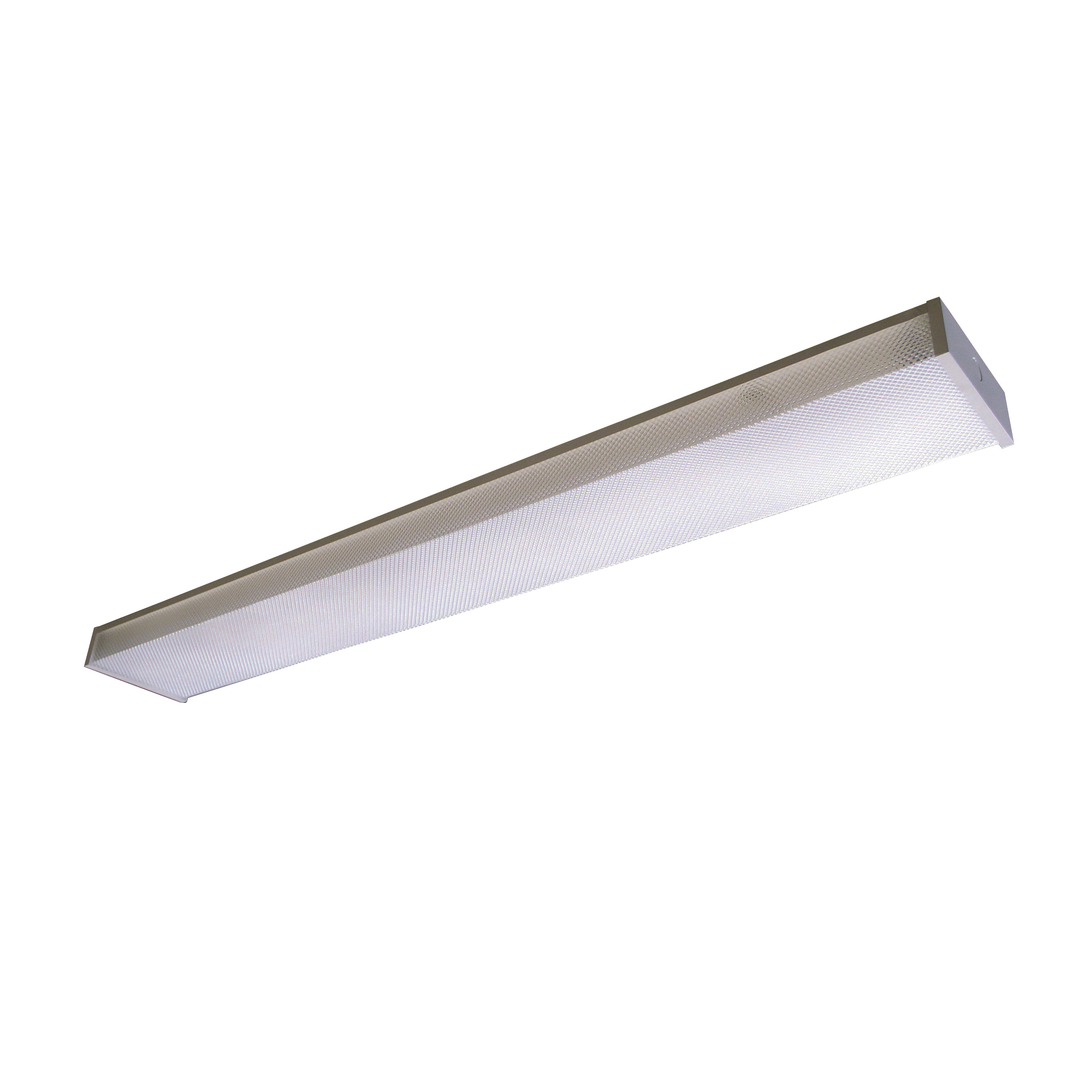 Picture of LITHONIA LIGHTING 3348 Fluorescent Wrap, 120 V, 2-Lamp, Steel Fixture, White Fixture