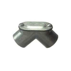 Picture of Halex 94110 Pull Elbow, 90 deg Angle, 1 in Trade, FPT x FPT, Zinc