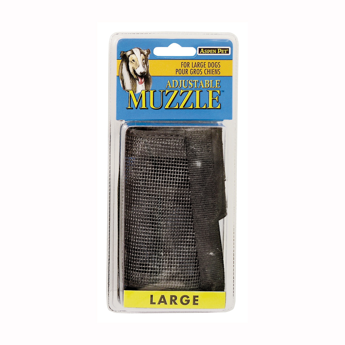 Picture of Aspenpet 27252 Adjustable Pet Muzzle, L, Black