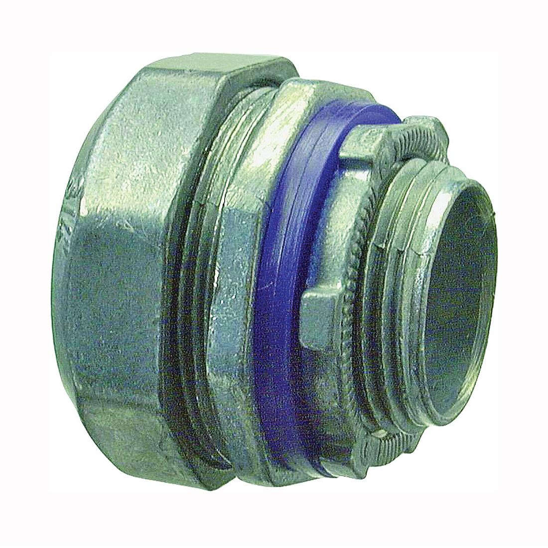 Picture of Halex 16205B Conduit Connector, 1/2 in Trade, Compression, Zinc