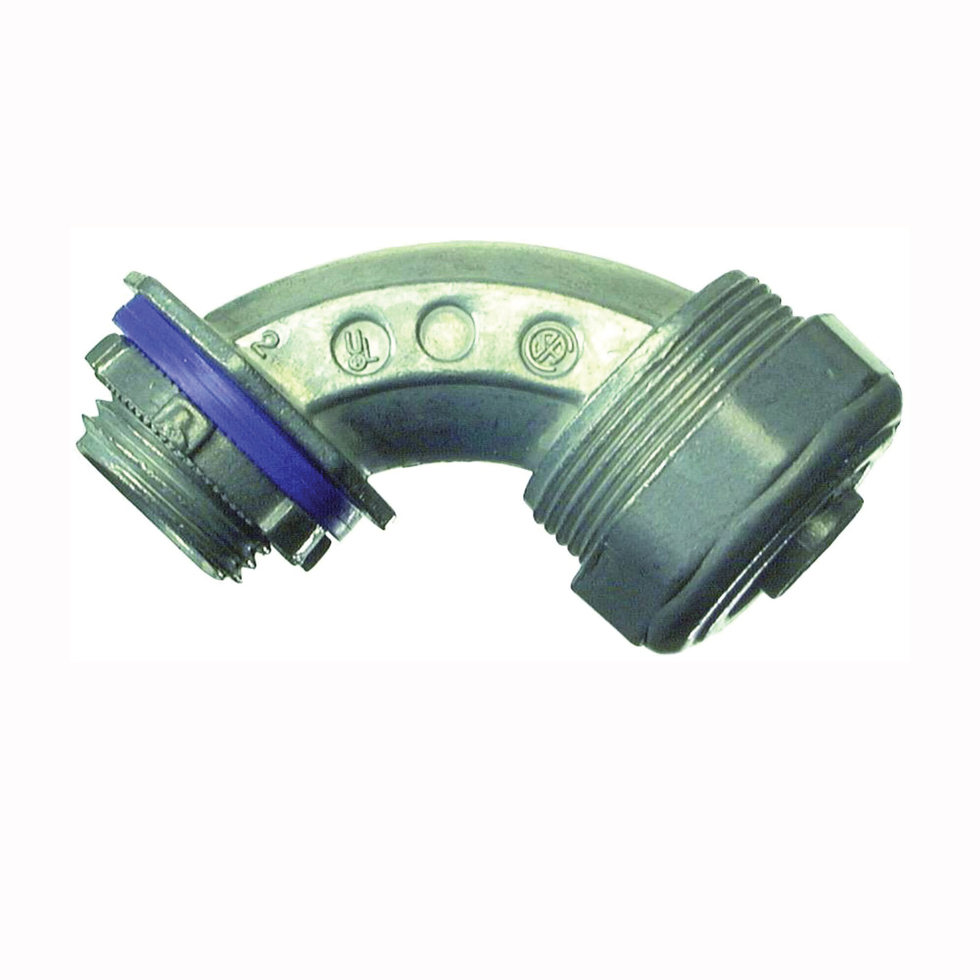 Picture of Halex 16905B Conduit Elbow, 90 deg Angle, 1/2 in Trade, Compression, Zinc