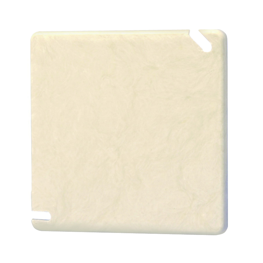 Picture of Allied Moulded 9344 Electrical Junction Box Cover, 4 in L, 4 in W, Square, PVC, Beige/Tan