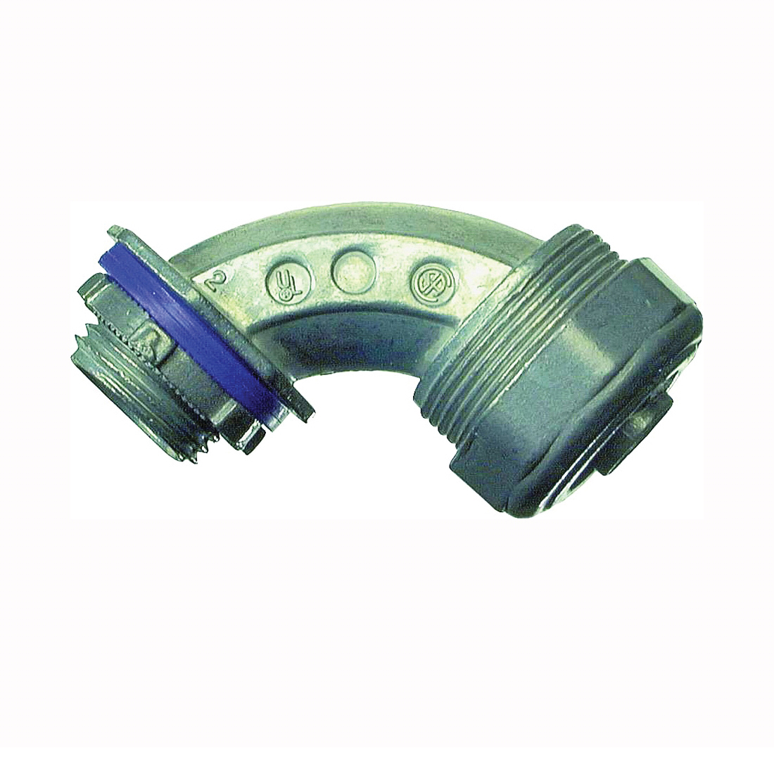 Picture of Halex 16907B Conduit Elbow, 90 deg Angle, 3/4 in Trade, Compression, Zinc