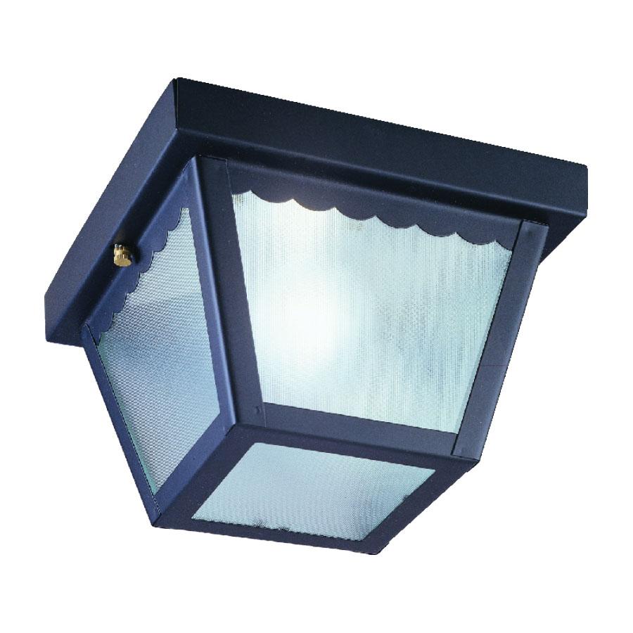 Picture of Boston Harbor 6276BK3L Porch Light Fixture, CFL Lamp, Black