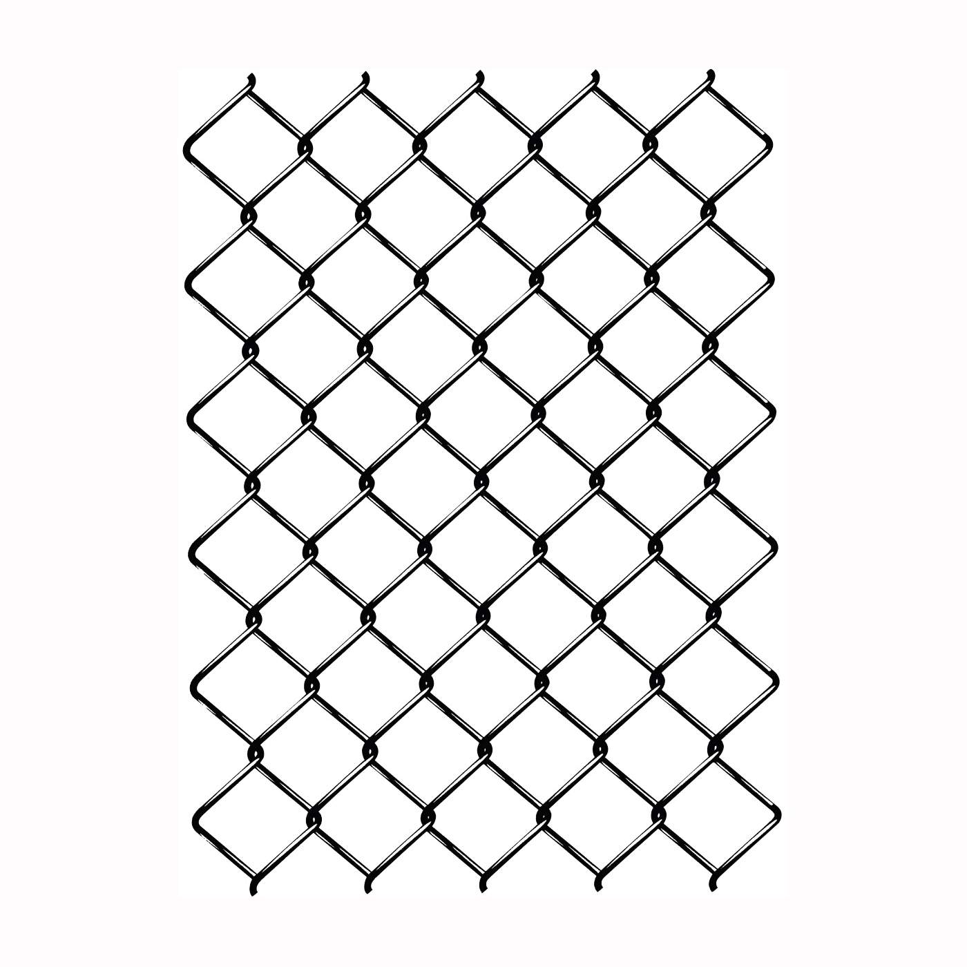 Picture of Rangemaster 10661 EZ Roll Chain Link, 50 ft L, 72 in H, 12-1/2 Gauge, Zinc