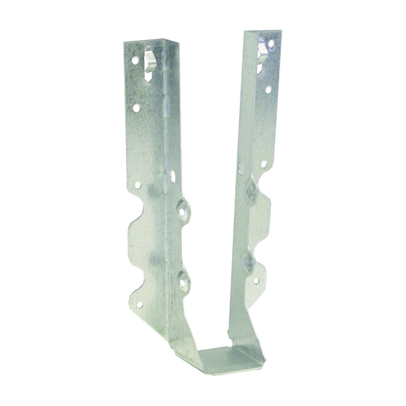 Picture of MiTek JUS210-TZ Slant Joist Hanger, 7-3/4 in H, 1-3/4 in D, 1-9/16 in W, 2 in L x 10 to 12 in H, Steel, Zinc