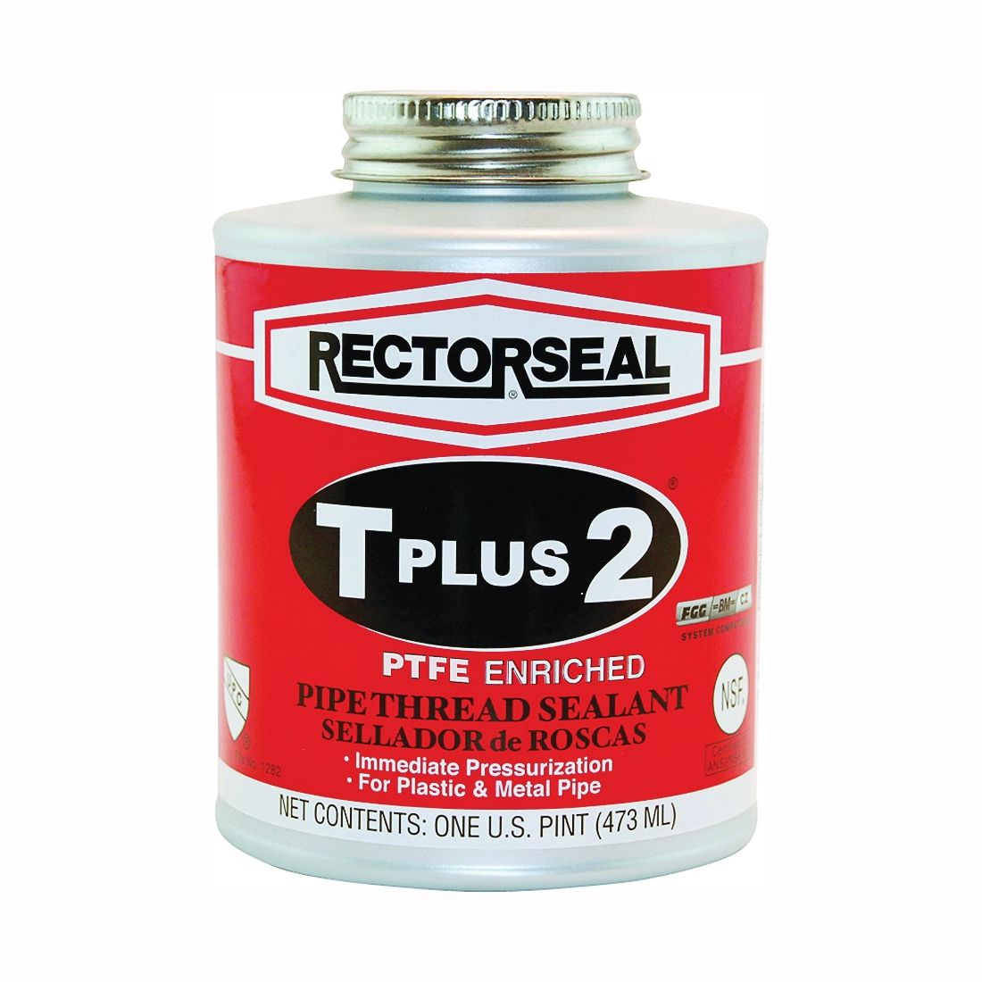 Picture of RECTORSEAL T Plus 2 23431 Thread Sealant, 1 pt, Can, Paste, White