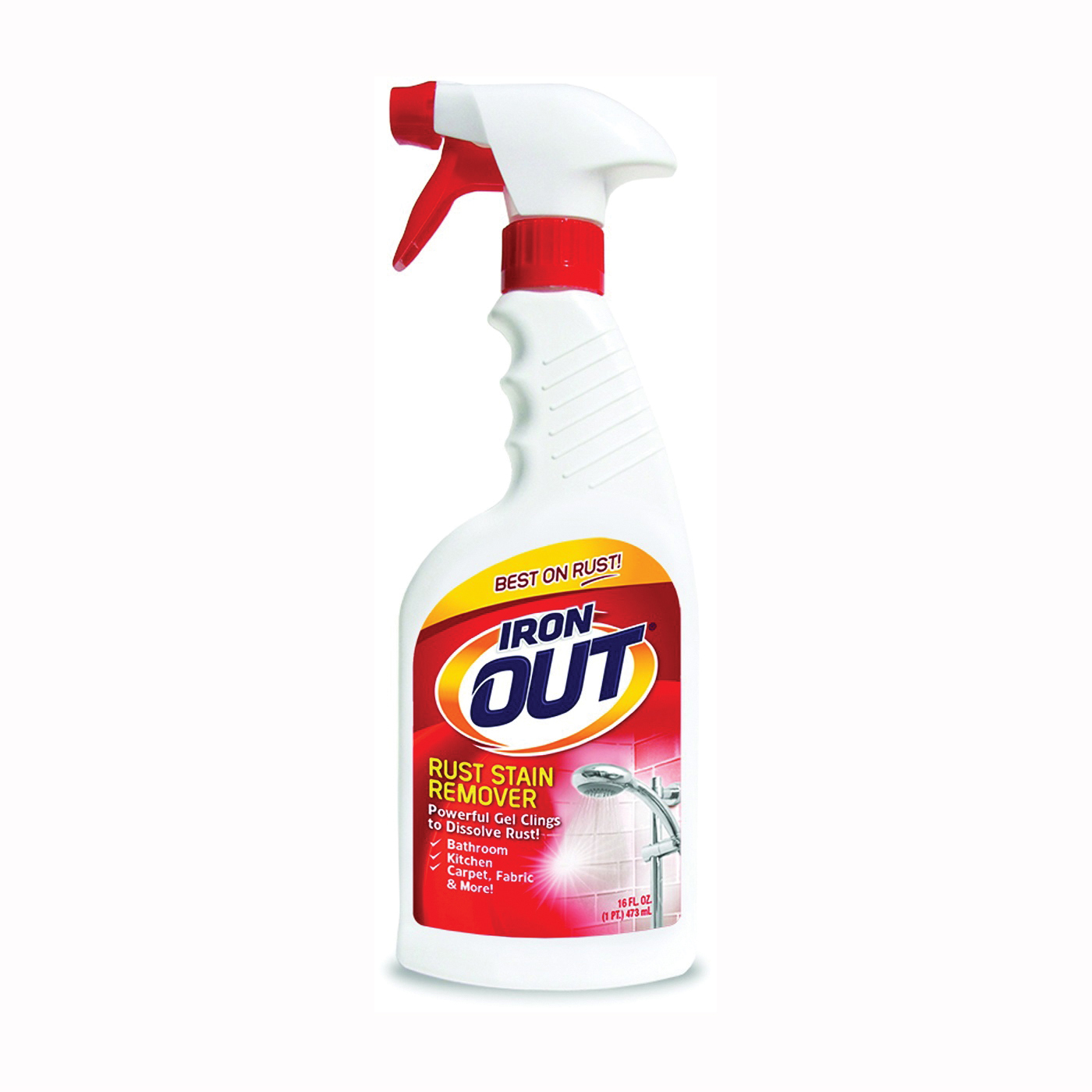 Picture of IRON OUT LIO616PN Stain Remover, 16 oz Package, Bottle, Liquid, Lime