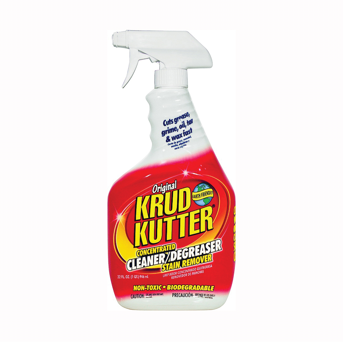 Picture of KRUD KUTTER KK326 Cleaner/Degreaser and Stain Remover, 32 oz Package, Spray Dispenser, Liquid, Mild