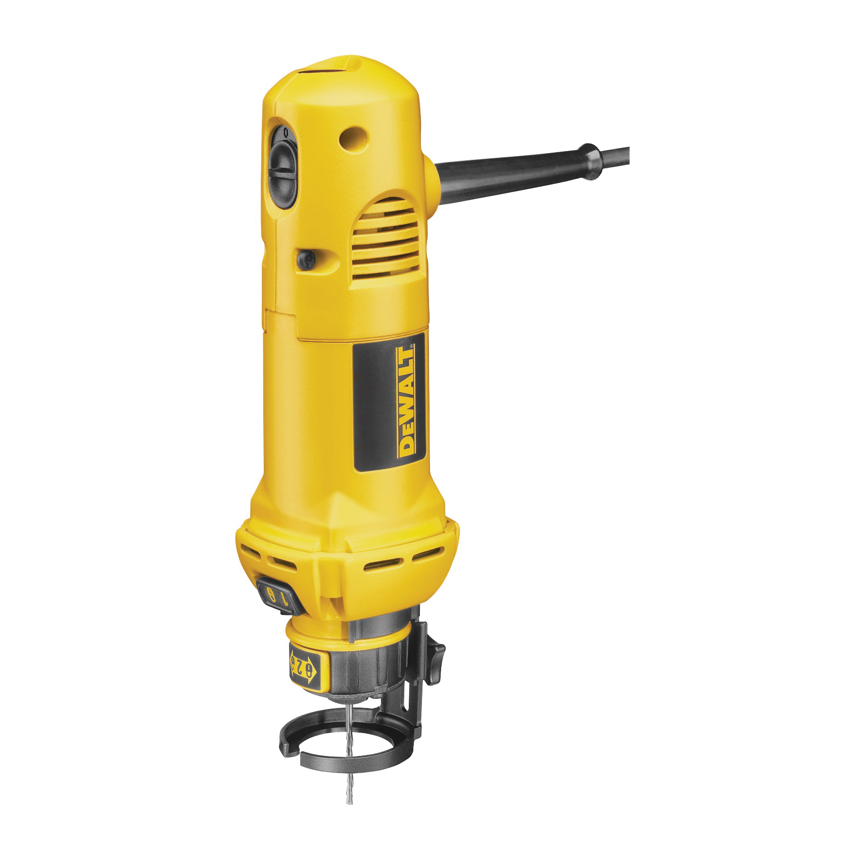 Picture of DeWALT DW660 Cut-Out Tool, 120 V, 5 A, 1 in Cutting Capacity, 1/4, 1/8 in Chuck, Collet Chuck, 30,000 rpm Speed
