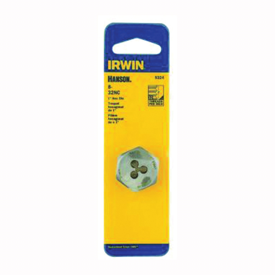 Picture of IRWIN 9324 Machine Screw Dies, #8-32 Thread, NC Thread, Right Hand Thread, HCS