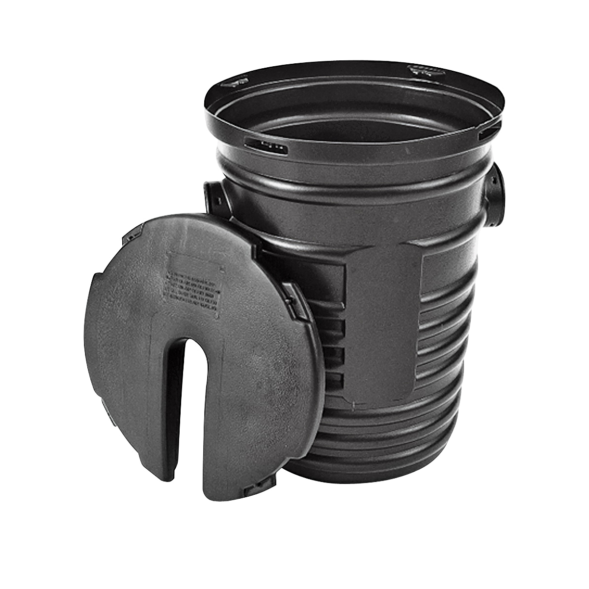 Picture of HANCOR 1524ADH Sump Pump System, 18 in Dia, 24 in L, 14 gal Capacity, Polyethylene