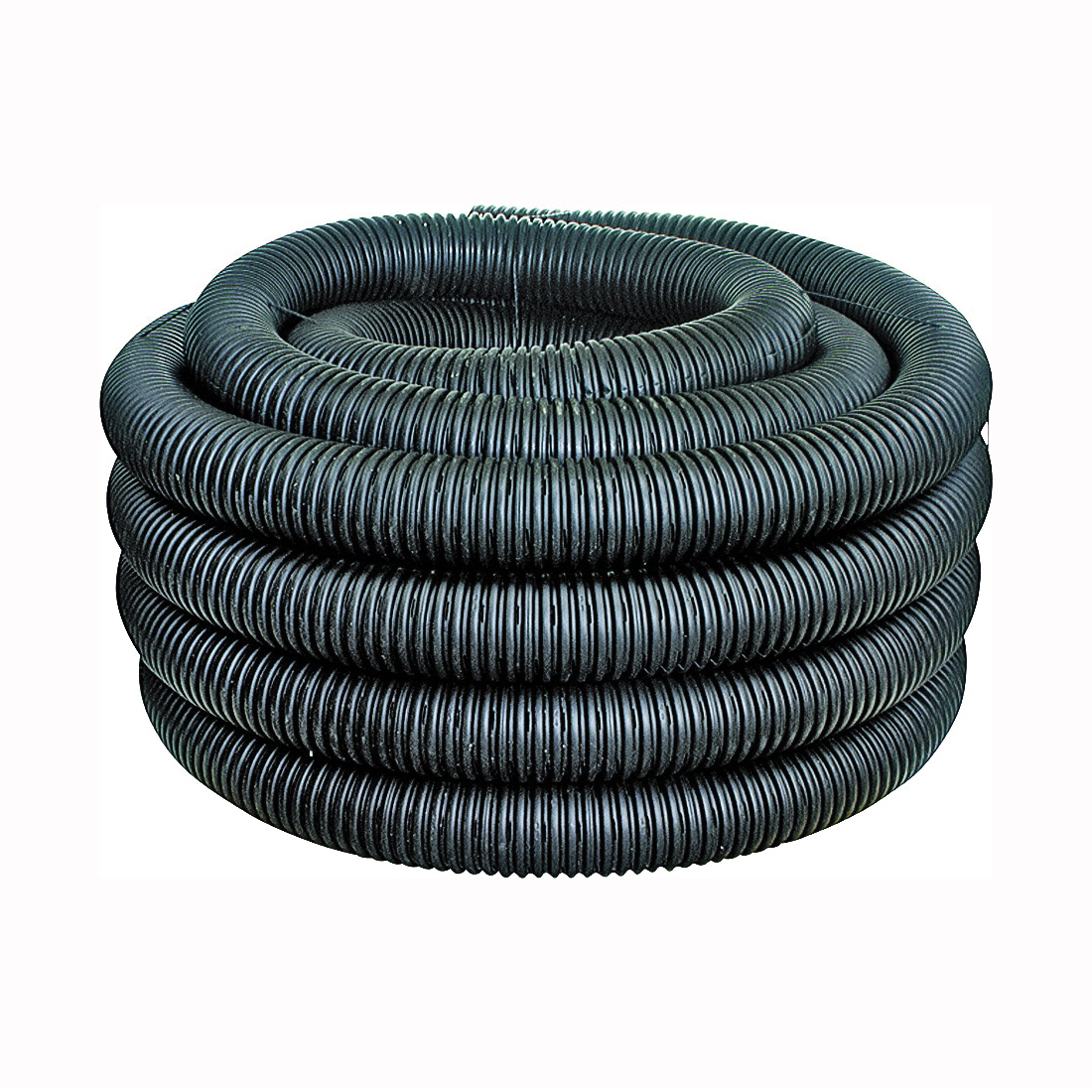 Picture of HANCOR 04010100 Single Wall Pipe, HDPE, 100 ft L