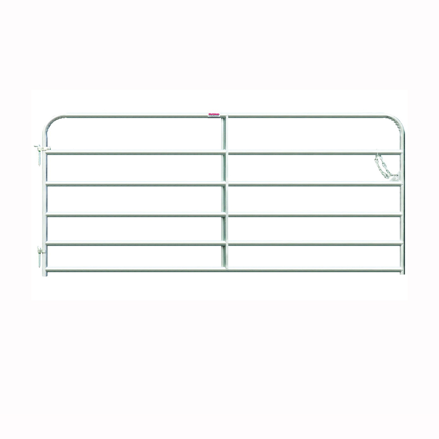 Picture of Behlen Country 40113088 Galvanized Gate, 96 in W Gate, 50 in H Gate, 20 ga Frame Tube/Channel, Steel Frame, Red