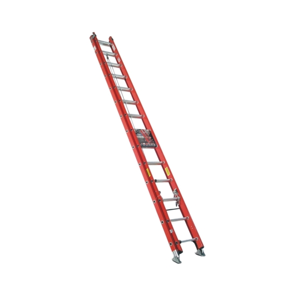 Picture of WERNER D6228-2 Extension Ladder, 27 ft H Reach, 300 lb, Fiberglass