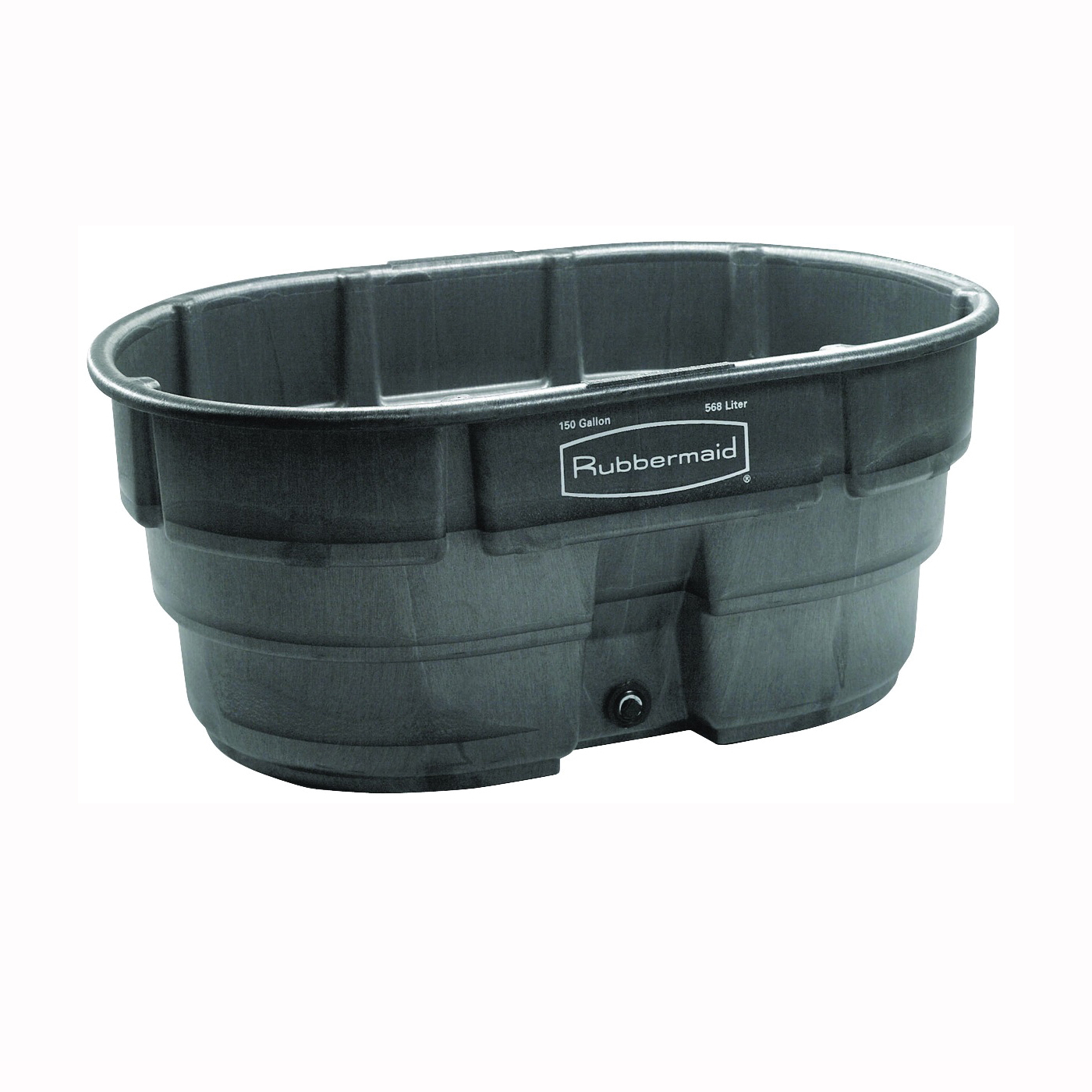 Picture of Rubbermaid 424500BLA Stock Tank, 150 gal Capacity, Plastic, Black