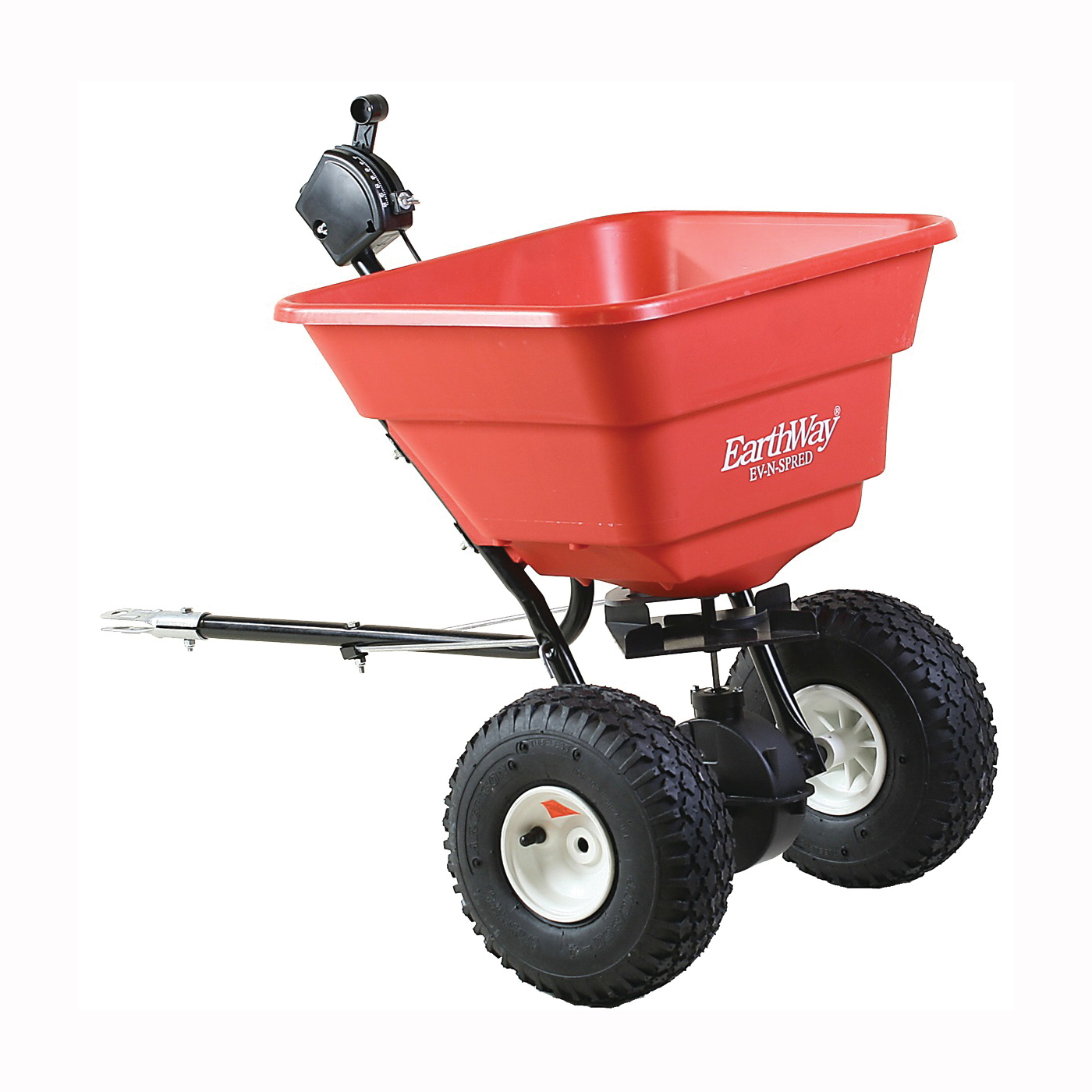 Picture of EarthWay 2050TP Broadcast Spreader, 80 lb Hopper, Poly Hopper, Pneumatic Wheel