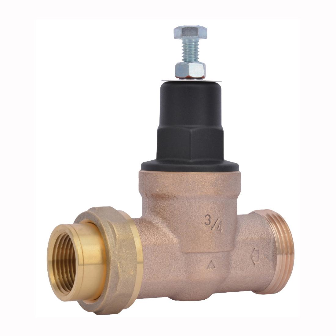 Picture of SharkBite EB45 Series 23883-0045 Pressure Regulating Valve, 3/4 in Connection, Single Union x NPT, Bronze Body