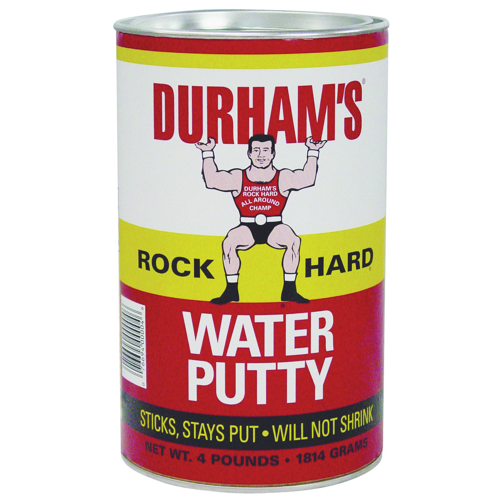 Picture of DURHAM'S Rock Hard 4 Water Putty, Natural Cream, 4 lb Package, Can