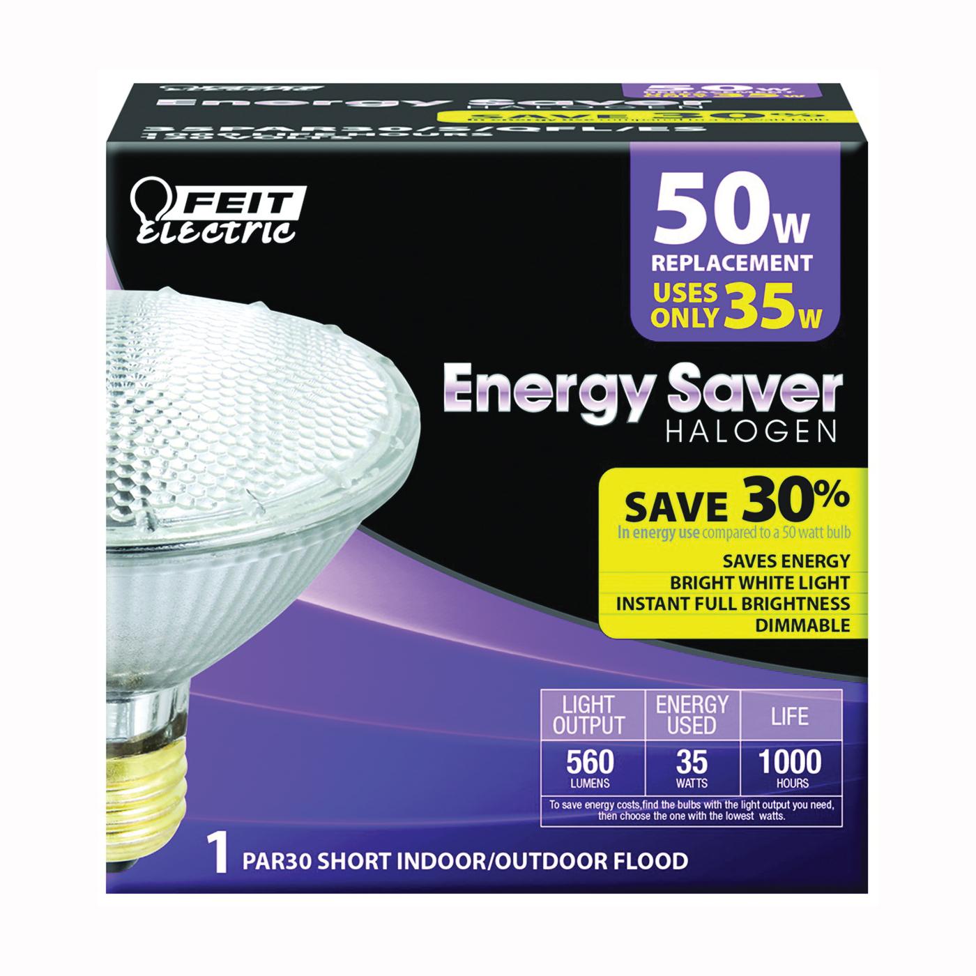Picture of Feit Electric 35PAR30/S/QFL/ES Halogen Lamp, 35 W, Medium E26 Lamp Base, PAR30 Lamp, Soft White Light, 560 Lumens
