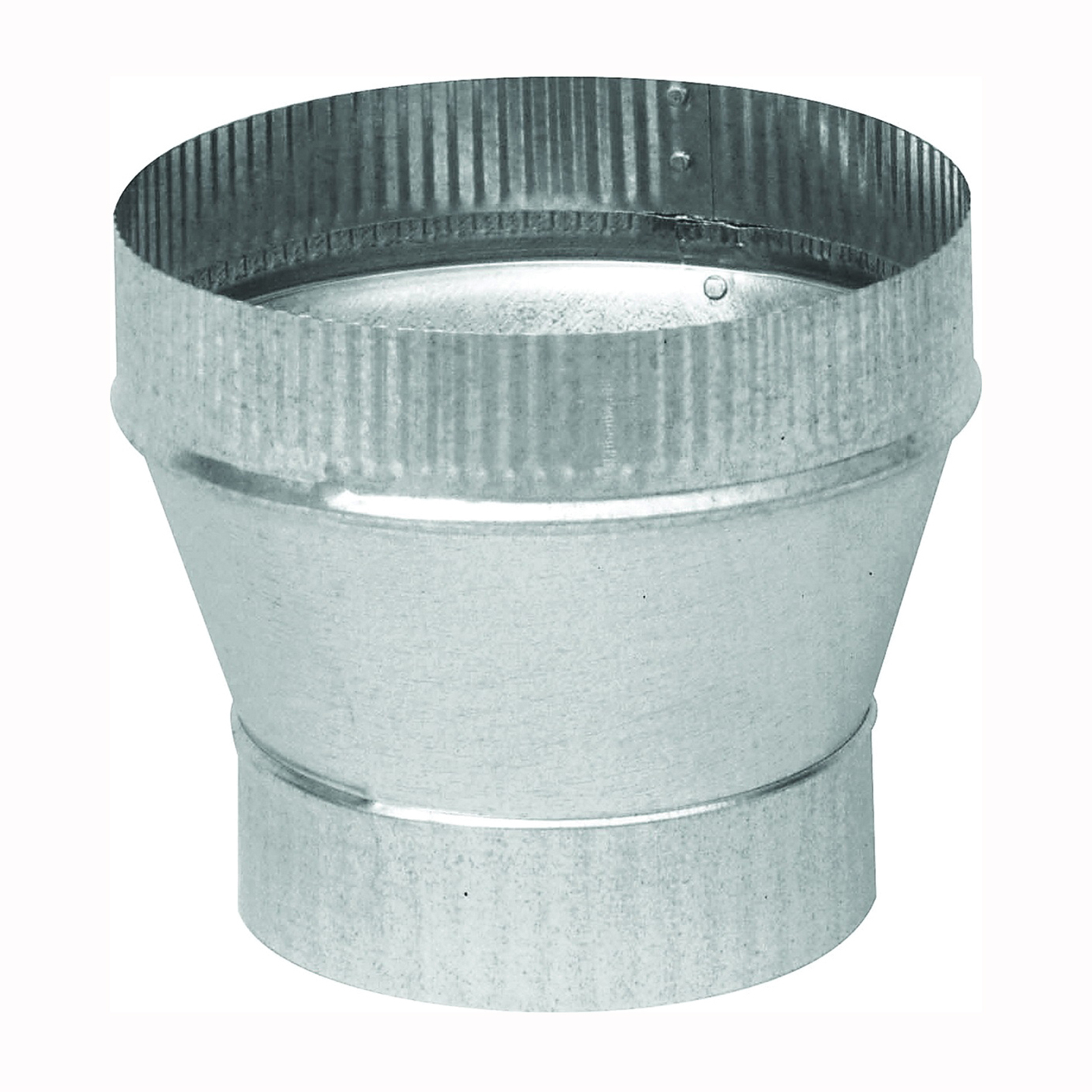 Picture of Imperial GV1360 Furnace Short Increaser, 6 to 8 in Connection, 24 Gauge, Galvanized