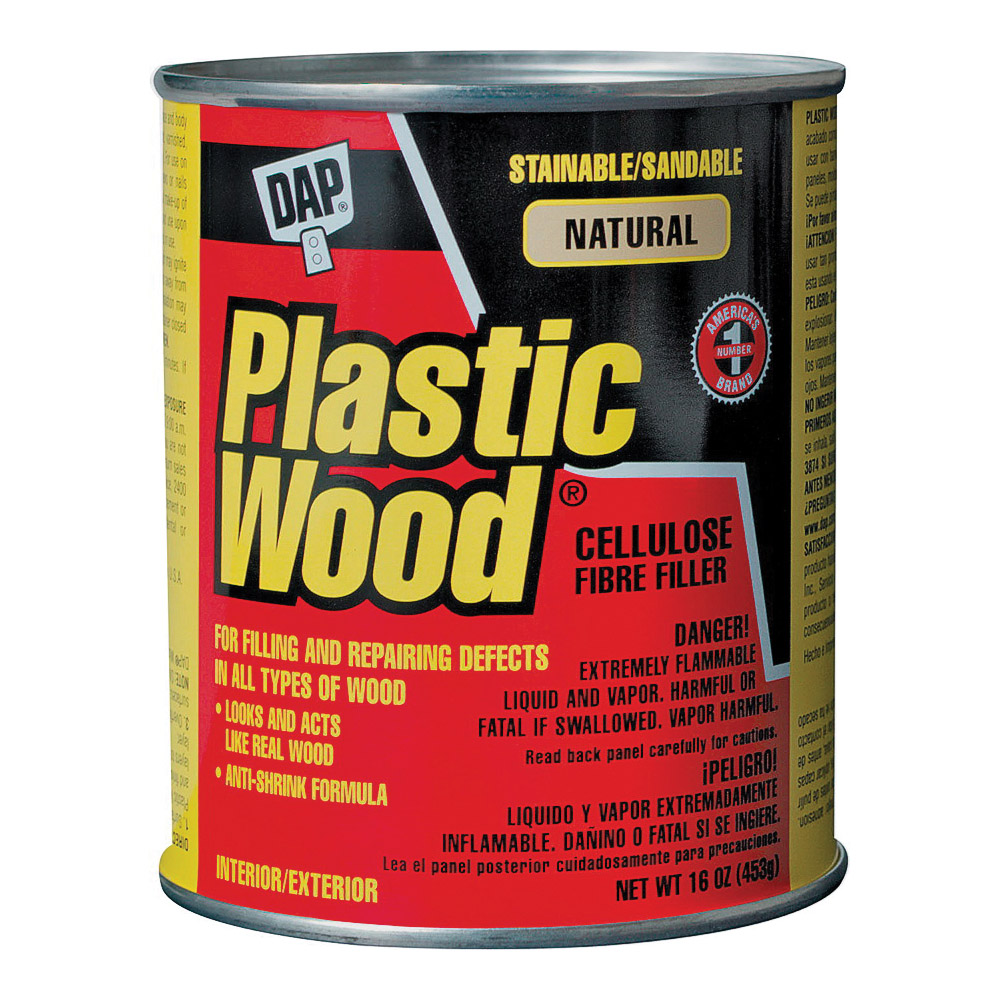 Picture of DAP Plastic Wood 21506 Wood Filler, Paste, Strong Solvent, Natural, 16 oz Package