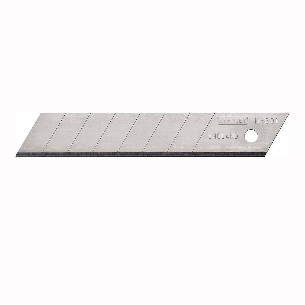 Picture of STANLEY 11-301 Replacement Blade, 18 mm, 4-1/4 in L, Carbon Steel, 8 -Point, 3/PK, Carded