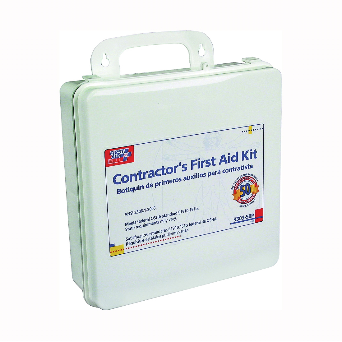 Picture of FIRST AID ONLY 9303-50P First Aid Kit, 237 -Piece, Plastic