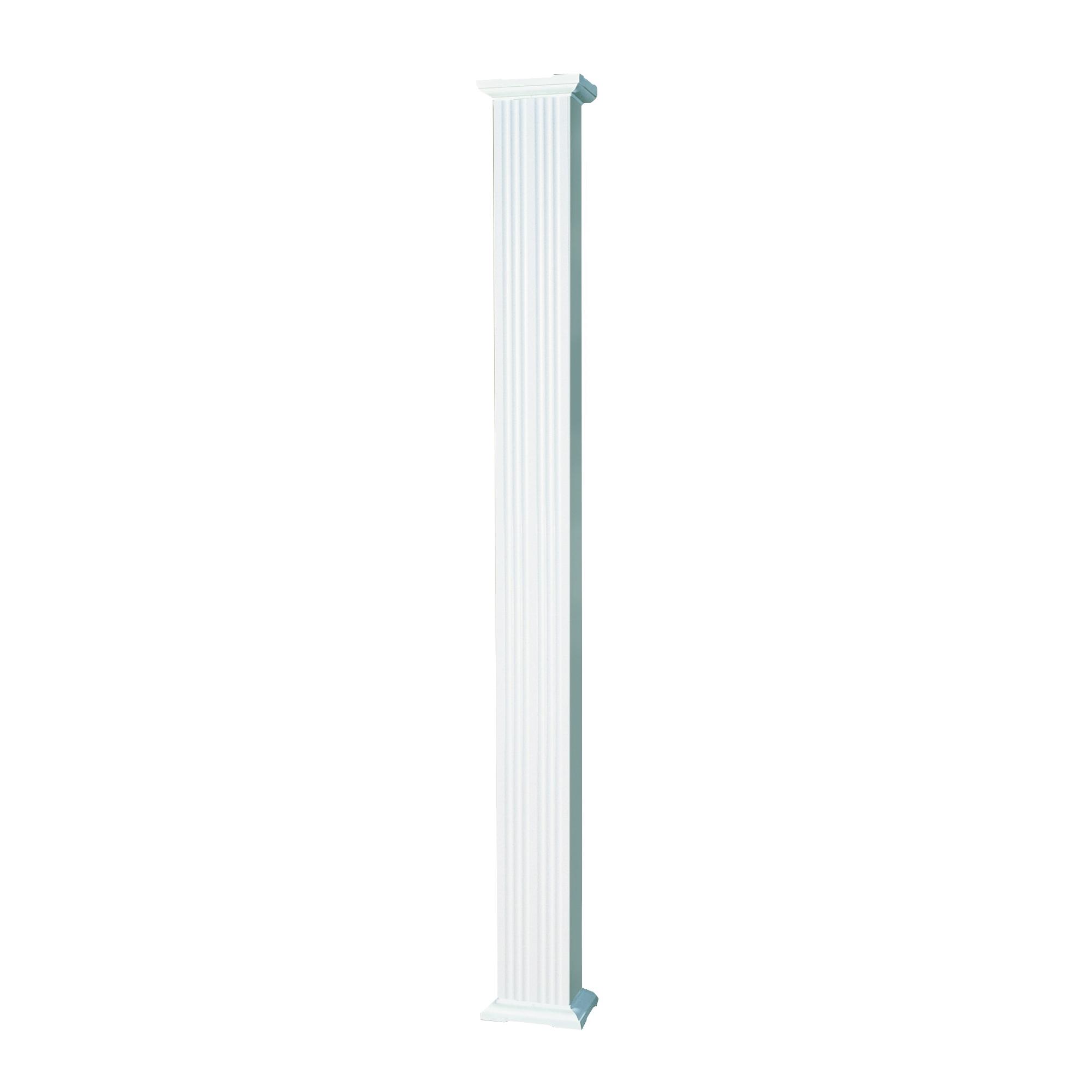 Picture of AFCO 80608 Square Column, 8 ft H, Square, Aluminum, White