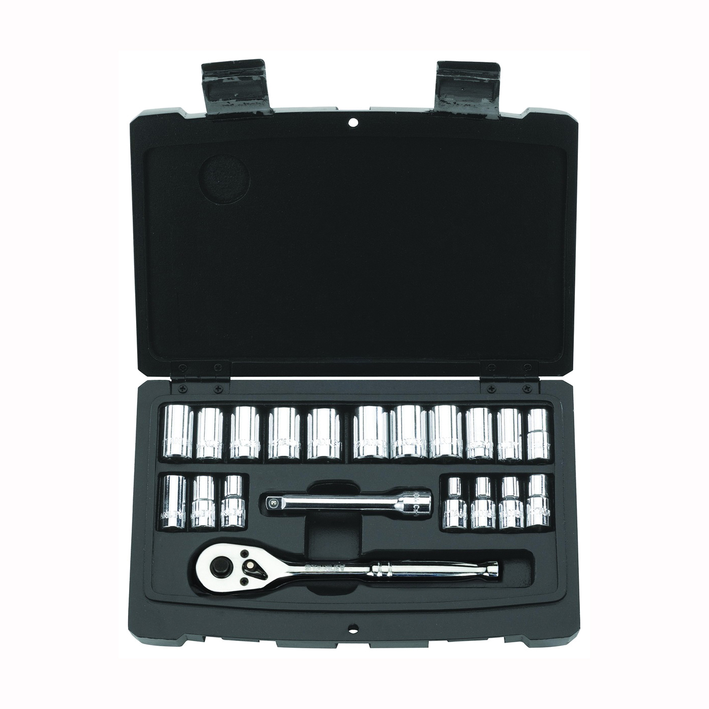 Picture of STANLEY 92-802 Socket Set, Steel, Chrome, Silver