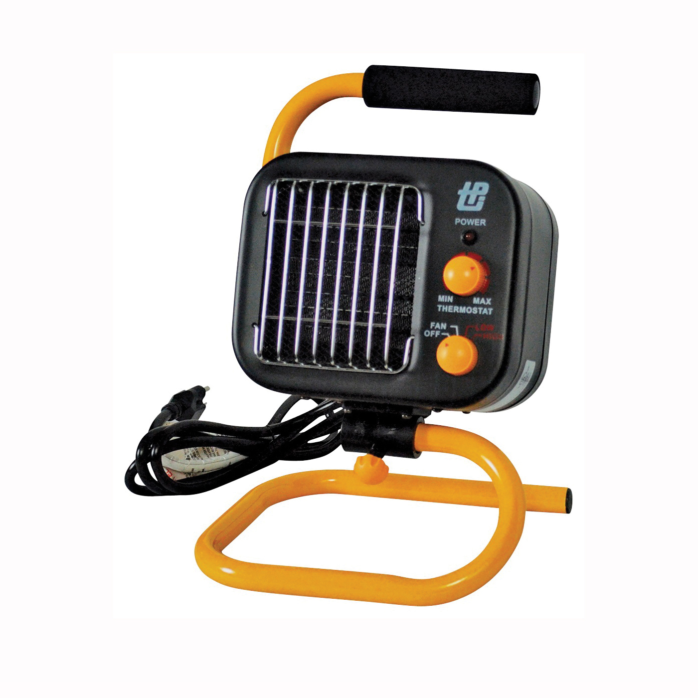 Picture of TPI 178TMC Portable Heater, 12.5/7.1 A, 120 V, 850/1500 W, 5120 Btu Heating, 2-Heat Setting, Black/Yellow