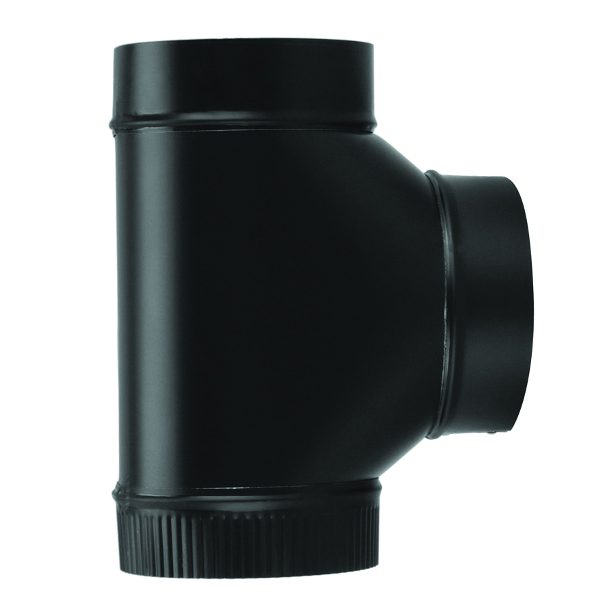 Picture of Imperial BM0084 Assembled Tee, 7 in, 24 ga Thick Wall, Steel, Black, Matte