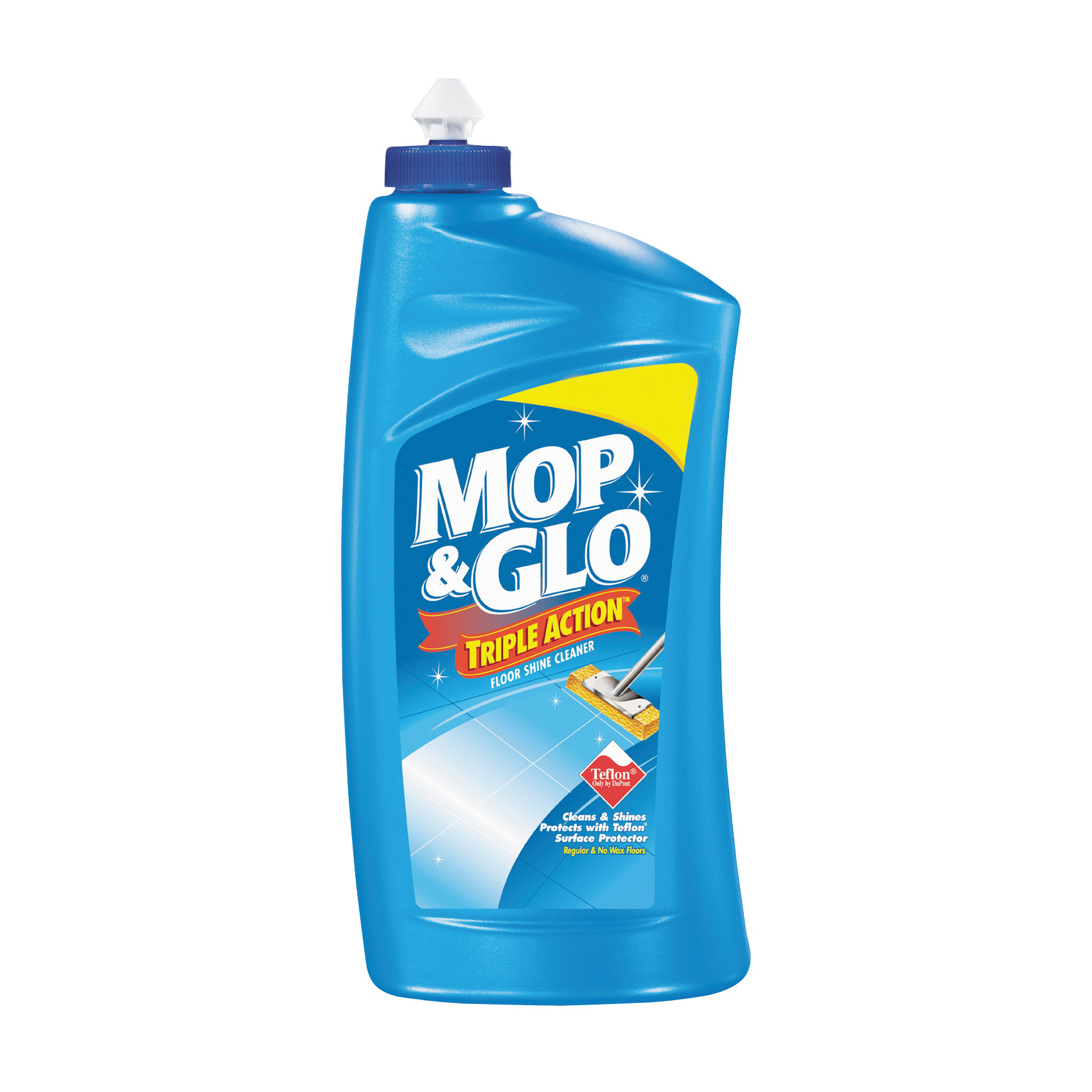 Picture of Mop & Glo 1920089333 Floor Shine Cleaner, 32 oz Package, Bottle, Liquid, Citrus, Tan