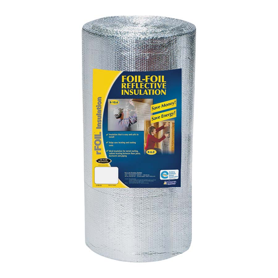 Picture of Mitex 2220-48-50 Construction Insulation, 50 ft L, 48 in W, Aluminum/Polyethylene