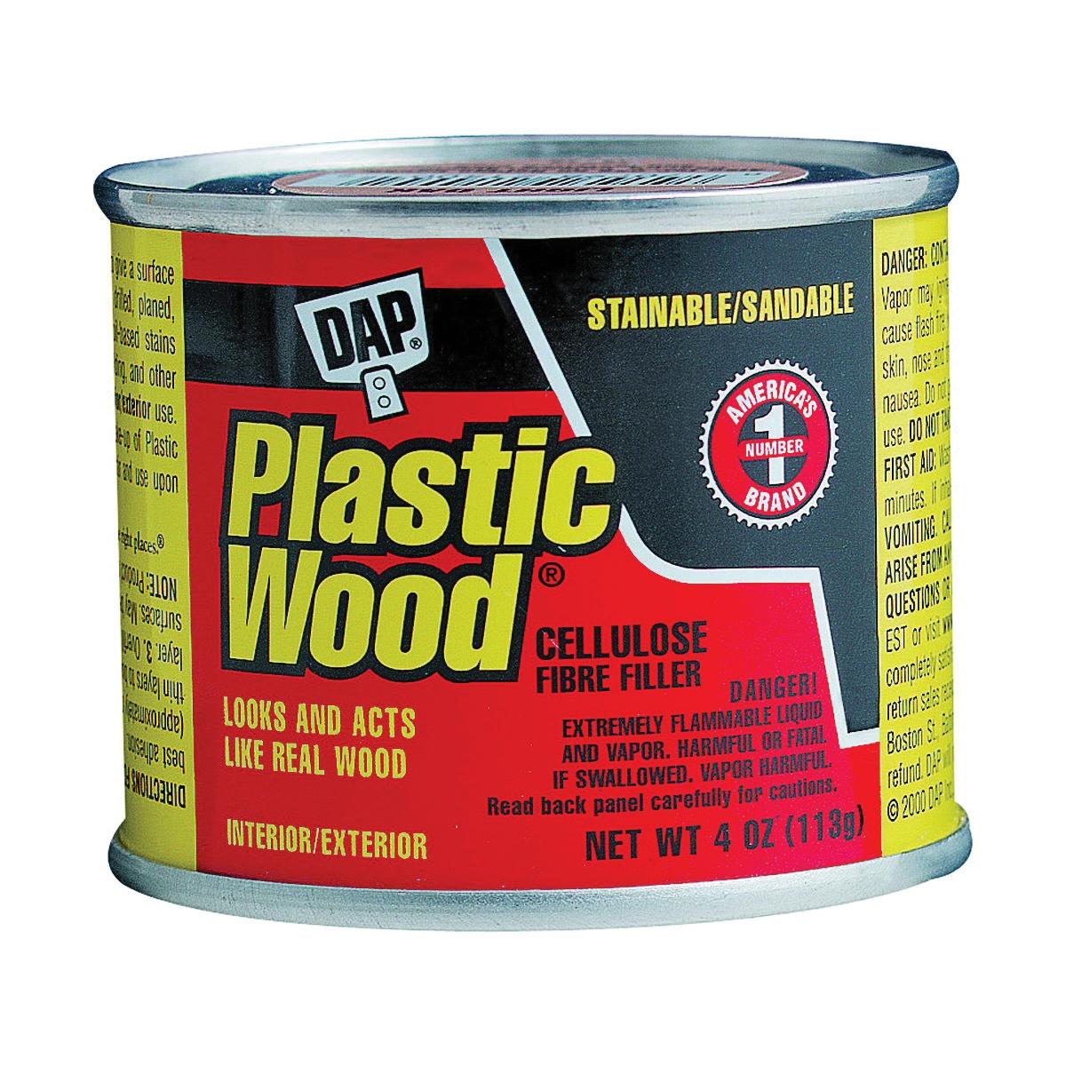 Picture of DAP Plastic Wood 21408 Wood Filler, Paste, Strong Solvent, Golden Oak, 4 oz Package