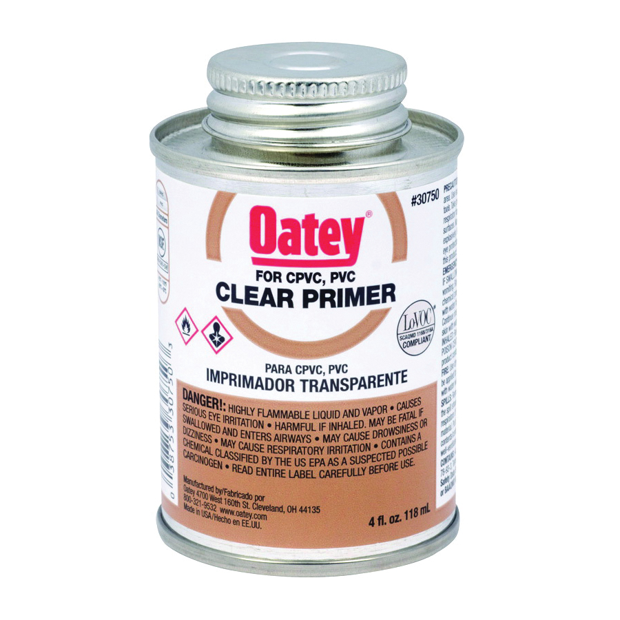Picture of Oatey 30750 Primer, Liquid, Clear, 4 oz Package