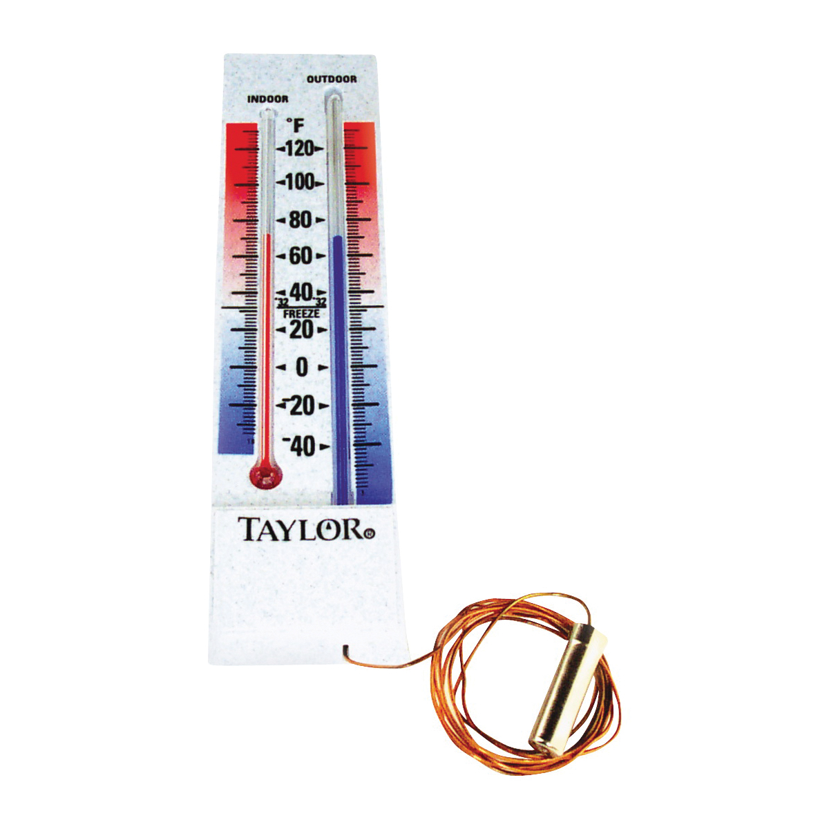 Picture of Taylor 5327 Thermometer, -40 to 100 deg F, Plastic Casing