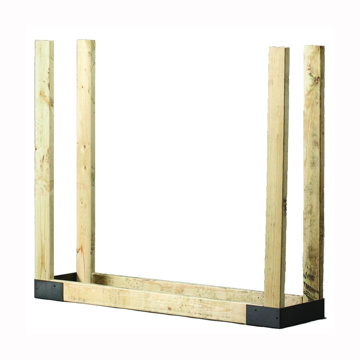 Picture of SHELTER SLRK Adjustable Log Rack Bracket Kit, 14 in W, Steel Base, Powder-Coated, Black