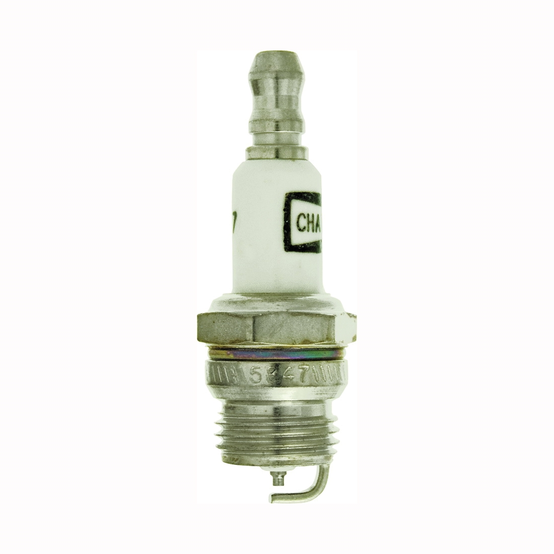 Picture of Champion DJ6J Spark Plug, 0.022 to 0.028 in Fill Gap, 0.551 in Thread, 5/8 in Hex, Copper, For: Small Engines
