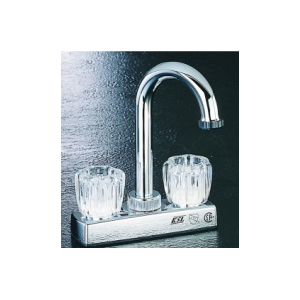 Picture of Boston Harbor PF4205A Bar Sink Faucet, 2-Faucet Handle, 2-Faucet Hole, ABS, Chrome, Deck Mounted Mounting