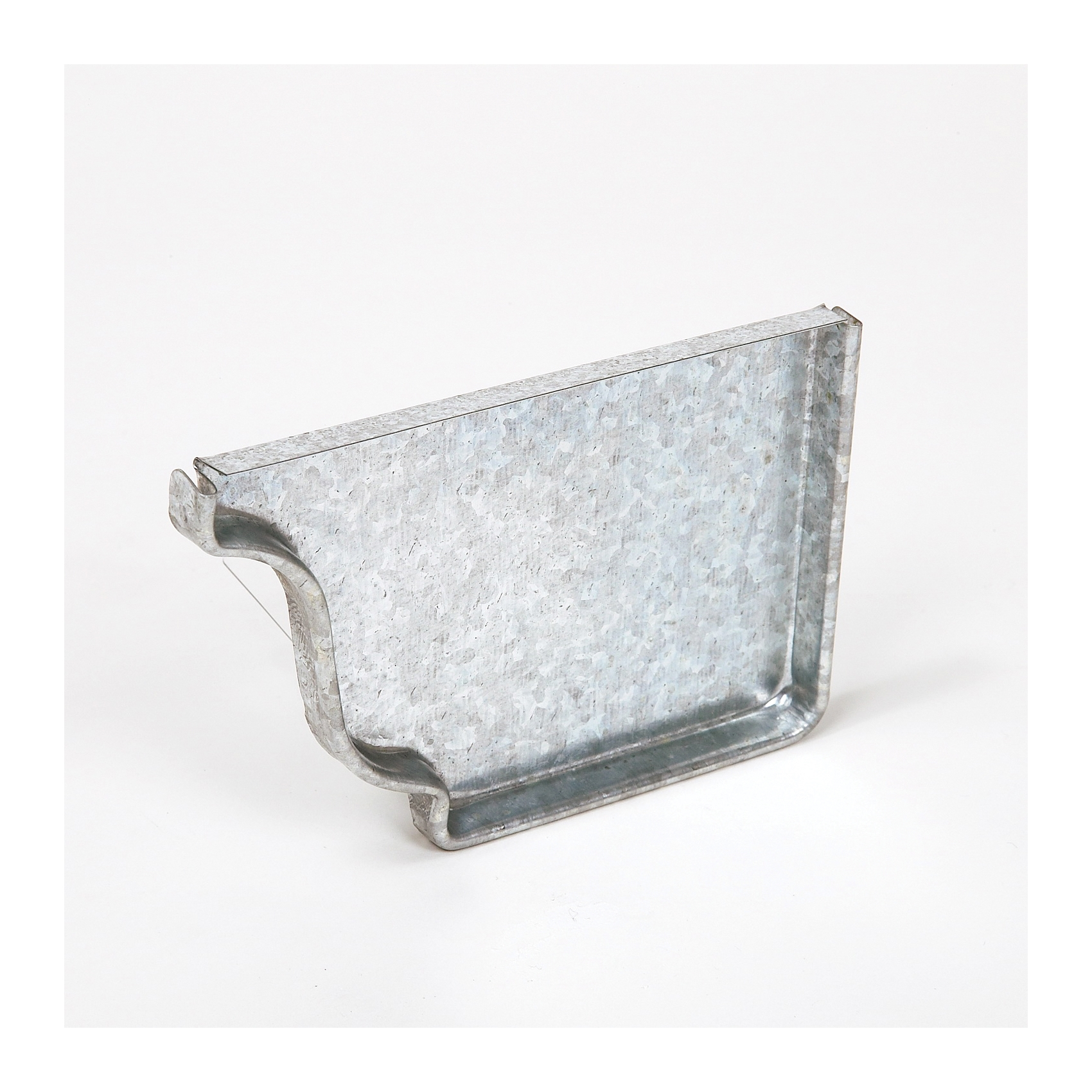 Picture of Amerimax 29206 Gutter End Cap, 5 in L, Galvanized Steel, For: 5 in K-Style Gutter System