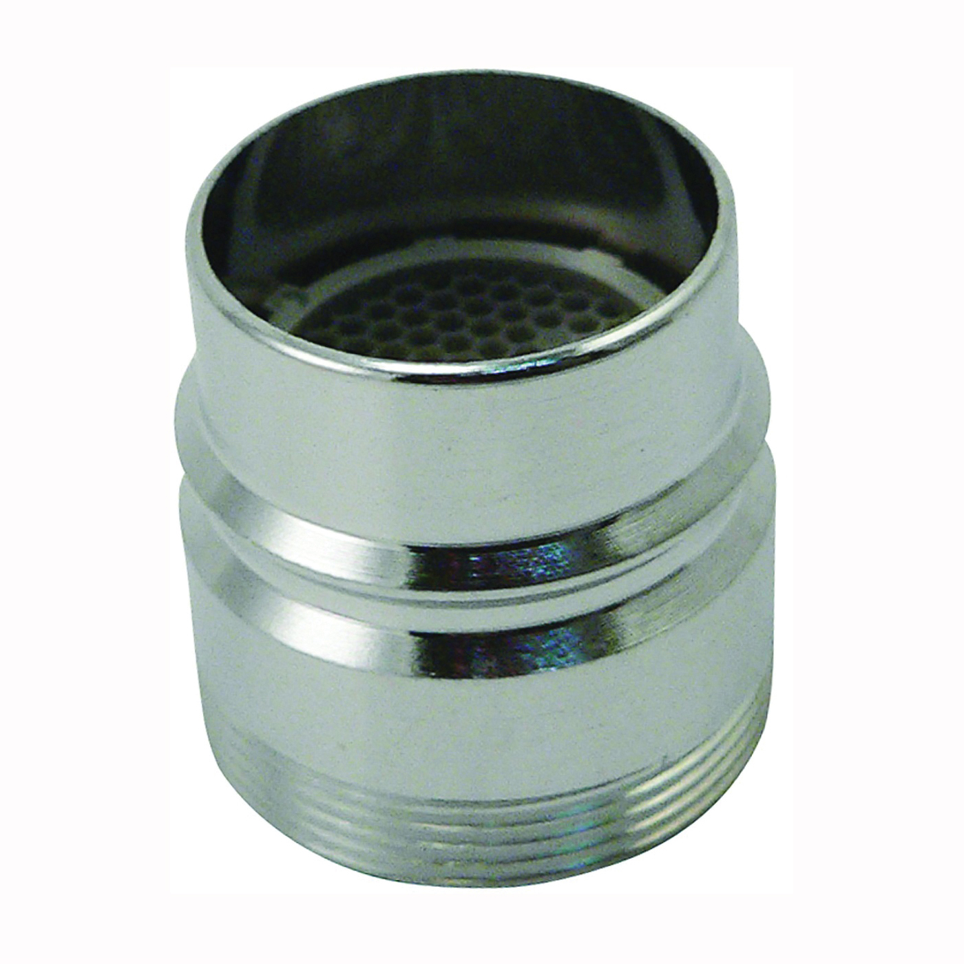 Picture of Plumb Pak PP28003 Faucet Aerator Adapter, 15/16-27 x 55/64 in, Male/Female, Brass, Chrome