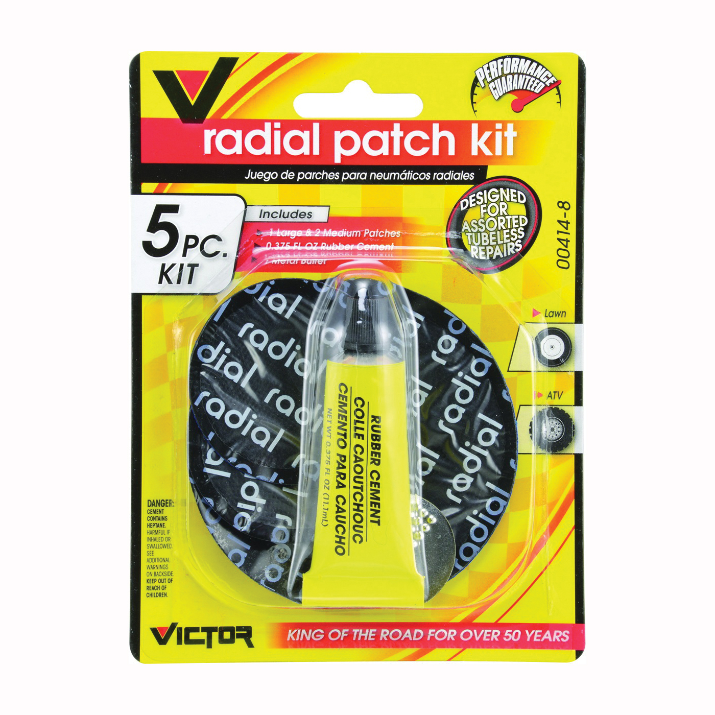 Picture of GENUINE VICTOR 22-5-00414-8 Tire Patch Kit, Metal/Rubber