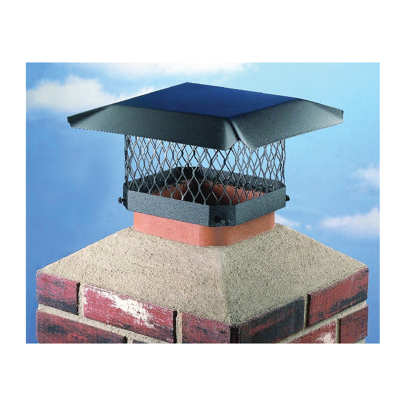 Picture of SHELTER SC913 Shelter Chimney Cap, Steel, Black, Powder-Coated, Fits Duct Size: 7-1/2 x 11-1/2 to 9-1/2 x 13-1/2 in