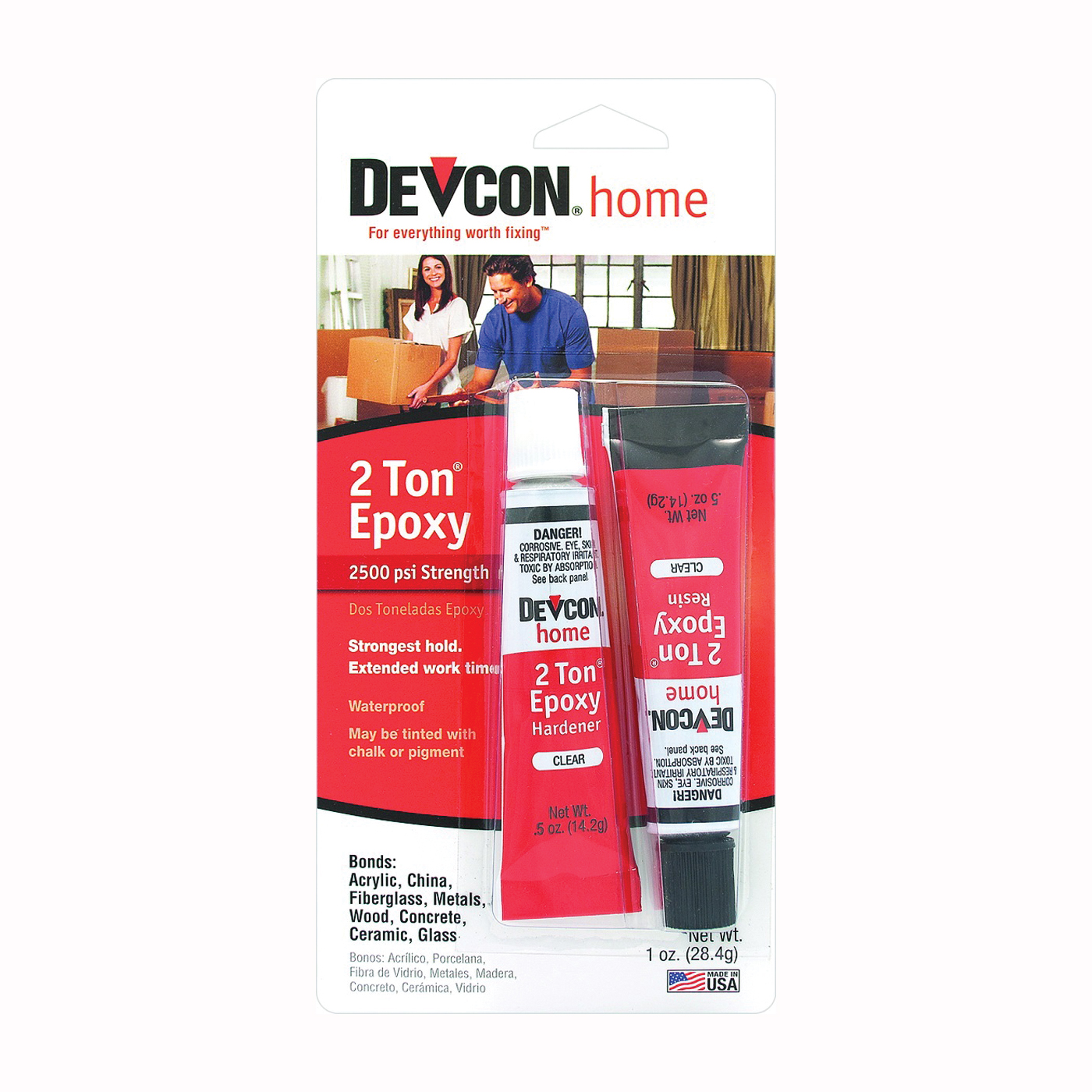 Picture of Devcon 35345 Epoxy, Liquid, Amber, 0.5 oz Package, Tube